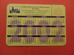 CALENDARIO PICCOLO FORMATO RELIGIOSO  SUORE  FRANCESCANE MISS ASSISI 2002 - Calendari