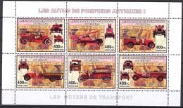 R. D. Du Congo 2006 - Véhicules Pompiers Antiques I - BF 6 Val ** Neufs // Mnh - République Démocratique Du Congo (1997 -...)