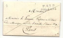 Loiret - Orléans Pour Un Professeur Et éditeur De Musique - 1827 - 1801-1848: Precursors XIX