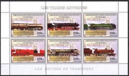 R. D. Du Congo 2006 - Trains Antiques A Vapeur - BF 6 Val ** Neufs // Mnh - République Démocratique Du Congo (1997 -...)