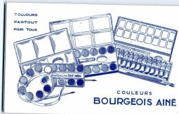 BUVARD   COULEURS BOURGEOIS AINE    11X18 - Papeterie
