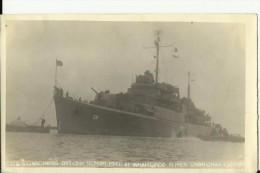 CHINA   --  SHANGHAI  - ORIGINAL - USA WARSHIP  ,, USS GARDINERS BAY  AVP - 39 ,,  1946 IN SHANGHAI  --   15 Cm X 9,4 Cm - Boten