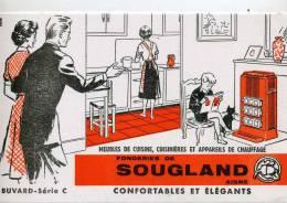 BUVARD FONDERIE DE SOUGLAND   14X21 CmTB ETAT - Buvards, Protège-cahiers Illustrés