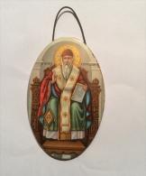 OVALE DI S. SPIRIDIONE SCRITTO IN GRECO - Religion & Esotericism
