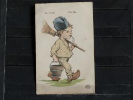 F02 - Carte Illustré - Petit Poilu - Edition Aux Alliés - La Corvée - The Bore - Weltkrieg 1914-18