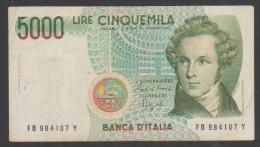ITALY, 5000 Lire ,#1985,No´111, VF.. - 5000 Lire
