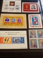 Miniature Sheets CCCP, Israel, Germany, Fiji - Stamps