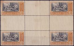 1948-161 CUBA. REPUBLICA. 1948. Ed.399CH. MARTI  CENTER OF SHEET. ORIGINAL GUM. - Neufs