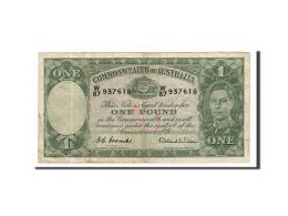Australie, 1 Pound, 1938-1940, KM:26d, Non Daté (1952), TB+ - 1938-52