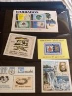 Miniature Sheets Iraq, Poland, Argentina, Barbados, Albania - Stamps