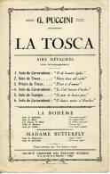 PARTITION OPÉRA MÉLODIE PUCCINI LA TOSCA LE CIEL LUISAIT D ÉTOILES DANS LA NUIT SANS VOILES - Opéra
