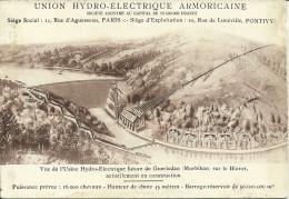 GUERLEDAN - Vue De L'usine Hydro-électrique....             -- Prieur Et Dubois - Other Municipalities