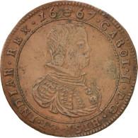 Pays-Bas, Token, Spanish Netherlands, Charles II, Bruxelles, 1667, TTB+, Cuivre - Pays-Bas