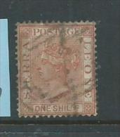 Sierra Leone 1883 QV 1/- Orange Brown Sound Used - Sierra Leone (...-1960)