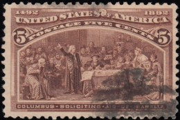 UNITED STATES - Scott #234 Columbian Exposition / Used Stamp - 1847-99 General Issues
