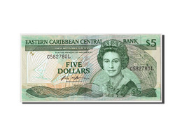 Etats Des Caraibes Orientales, 5 Dollars, Non Daté (1986-88), KM:22l1, SPL - Caraïbes Orientales
