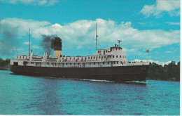 S.S. Norisle - Tobermory To South-Bay Mouth - Manitoulin Island Ontario - Ferry Boat - Traversier - 2 Scans - Ferries