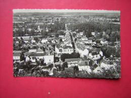 CPSM PHOTO GLACEE  LA CHARTRE SUR LE LOIR  Sarthe  VUE GENERALE     VOYAGEE  1948 TIMBRE - Autres Communes