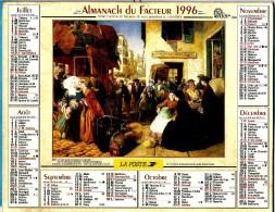 ALMANACH DES P.T.T 1996 (88)  -  Complet ** LA MALLE POSTE EN PARTANCE DE BIARRITZ (64) -  ** Calendrier * OLLER * N°321 - Calendriers