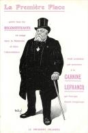 PUBLICITE LA CARNINE LEFRANCQ  LE PRESIDENT FALLIERES - Pubblicitari