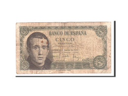 Espagne, 5 Pesetas, 1951, KM:140a, 1951-08-16, TB - 5 Pesetas