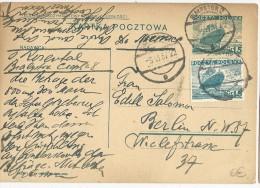 POLOGNE - 1937 - CARTE ENTIER De BIALYSTOK Pour BERLIN - - Entiers Postaux