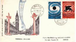 Fdc Filagrano: MOSTRA DEL CINEMA (1962); No Viaggiata; AF_Firenze - F.D.C.