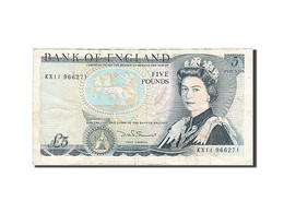 Grande-Bretagne, 5 Pounds, 1971-1982, KM:378c, 1980-1987, TTB - 1952-… : Elizabeth II