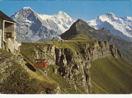 2 Cards / Remember Switzerland The Magnificence Of The Swiss Alps - 1965 Tourist Obliteration Of Wengen, Bern - Souvenir De...