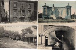 BAGNOLS SUR CEZE -4 CPA - Monument De Joseph Tome- Mairie - Place De La Vierge - Mt Cotton(Théatre)(85860) - Bagnols-sur-Cèze