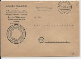 PRISONNIERS DE GUERRE - 1954 - ENVELOPPE Du HAUT COMMISSARIAT FRANCAIS En ALLEMAGNE - SERVICE ARCHIVES -KRIEGSGEFANGENEN - Marcophilie (Lettres)