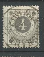 1886 USED  Sweden, Posthorn On Back, Gestempeld - Gebraucht