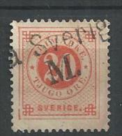 1886 USED  Sweden, Posthorn On Back, Gestempeld - Usati