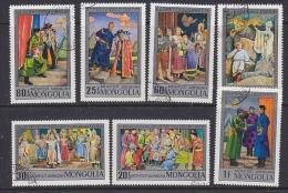 Mongolia 1973 History 7v Used (SB101E) - Mongolië