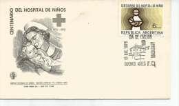 CENTENARIO  DEL HOSPITAL DE NIÑOS  SPECIAL COVER  SOBRE  FDC SELLO MATASELLO OHL