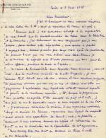 VP3606 -Tabac - Lettre De Mr Louis  CHAVANNE  à  PARIS  Pour  Mr SCHLOESING - Documenti