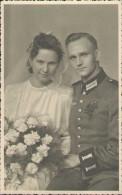 Soldaten-Portrait, Hochzeit, Foto-Postkarte, Atelier Otto Werner Riesa, Deutsche Wehrmacht, Drittes Reich, Militär - War 1939-45