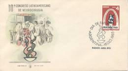 DECIMO CONGRESO LATINOAMERICANO DE NEUROCIRUGIA AÑO 1963 REPUBLICA ARGENTINA FDC