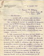 VP3607 -Tabac - Lettre De Mr Louis  CHAVANNE  à  PARIS  Pour  Mr SCHLOESING - Documentos