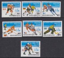 Mongolia 1979 World Championship Icehockey 7v Used (SB102A) - Mongolië