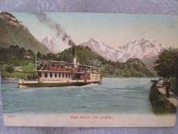 EIGER MONCH UND JUNGFRAU  . BATEAU - Switzerland