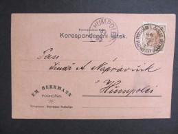 Korrespondenzkarte Podhorany Caslav Podhoran - Humpolec Em.Herrmann 1897  /// D*19812 - 1850-1918 Imperium