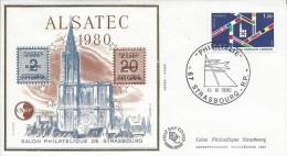 """Bloc CNEP """"Alsatec 1980"""" Y&T 1 Sur FDC - 1980-1989"""