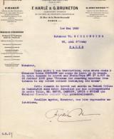 VP3608 -Tabac - Lot De Documents Mrs F. HARLE & G.BRUNETON Ingénieurs - Conseils à PARIS  Pour  Mr SCHLOESING - Dokumente
