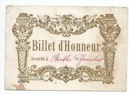 BILLET D'honneur  PARIS Cours Complementaire - Diploma & School Reports