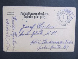 Feldkorrespondenzkarte Feldpost Bystre U Noveho Mesta N.M. 1916  /// D*19816 - Briefe U. Dokumente