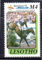 LESOTHO    N° 922  * *  ( Cote 6e )   Jo 1992  Hippisme - Horses