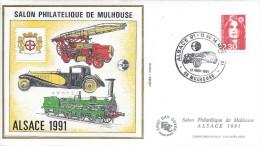 France CNEP N °13 XX Salon Philatélique De Mulhouse 1991, Sur FDC - 1990-1999