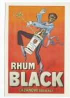 RHUM BLACK, Casanove à Bordeaux - Crée Vers 1920  - Amorimage Pour Humour à La Carte PU 456 - Publicité