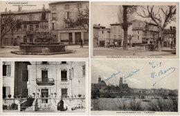 PONT SAINT ESPRIT  - 4 CPA - Fontaine De La Navigation (Café De Paris) ND De La Bache - Vue Gle    (85886) - Pont-Saint-Esprit